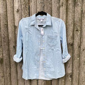 NWT Old Navy Women's Classic Button Front Shirt